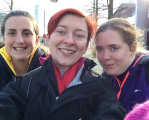 Amazingly supportive friends - Post Race