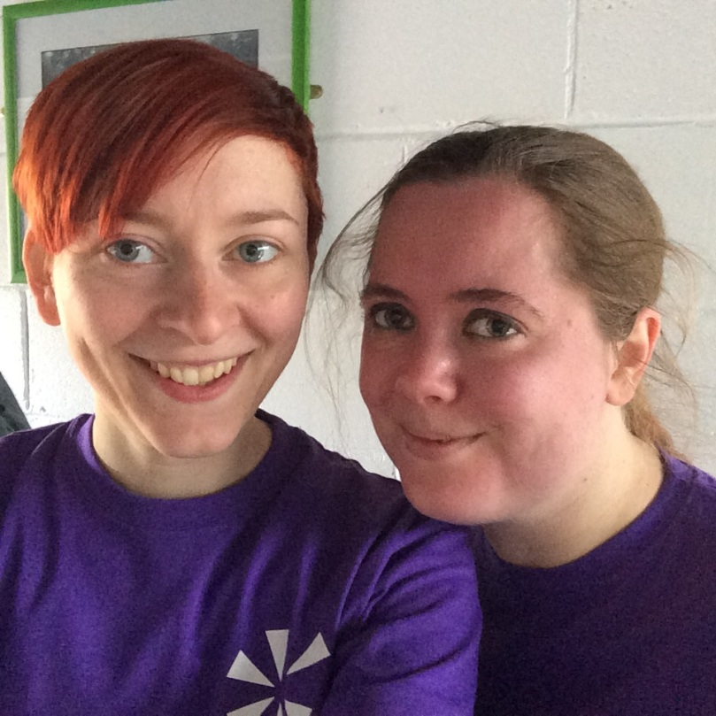 Helen and I after our 5.5km... :-P