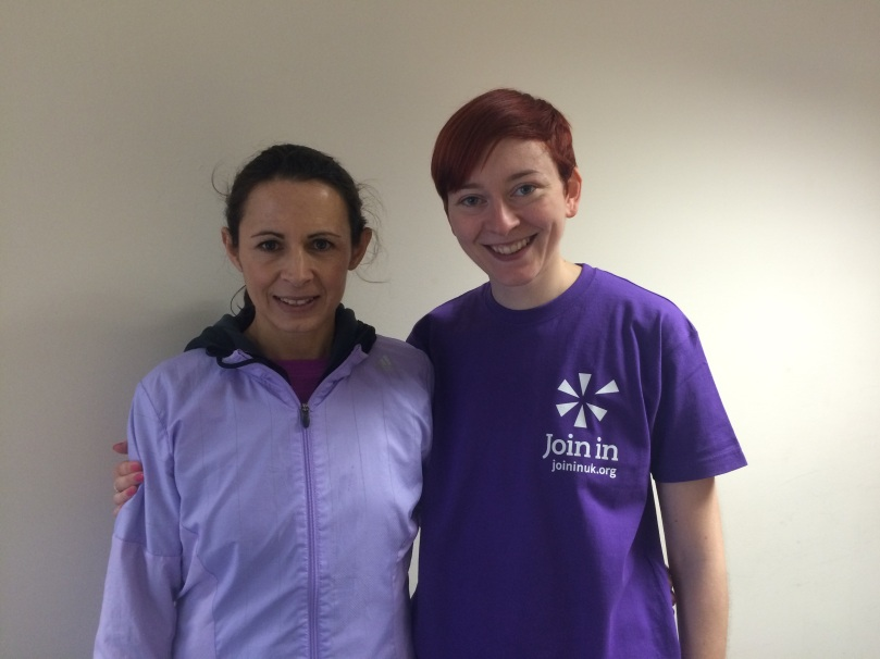 Jo Pavey and me (looking slightly overexcited)