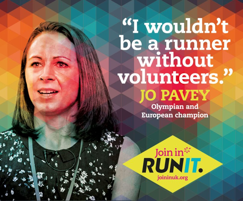 Jo Pavey is supporting 'Run It' a campaign from charity Join In to put more volunteers into grassroots running. For more information visit joininuk.org/run-it
