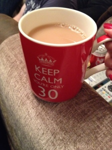 A hot cup of tea - bliss!!!