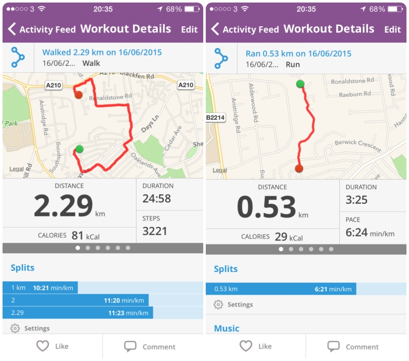 A walk and a jog
