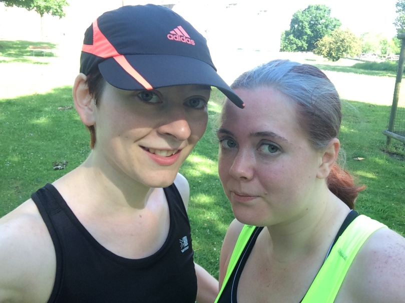 Obligatory after run selfie with the lovely Helen!