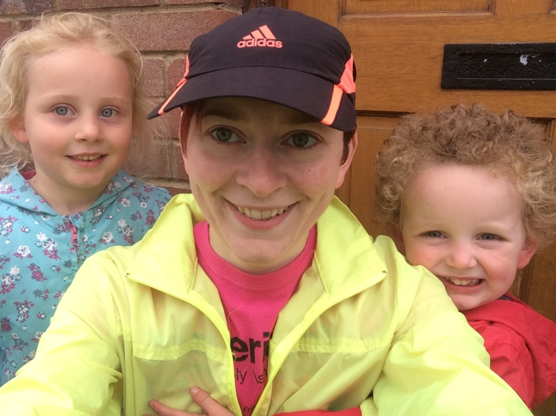 After run selfie with the small people!