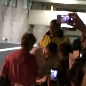 I promise the blurry man in the white shirt is Benedict Cumberbatch!!!