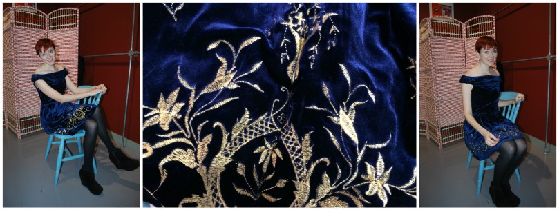 Baroque Velour Dress1