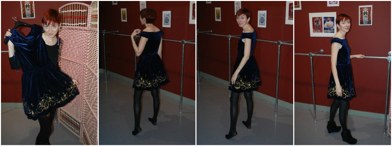 Baroque Velour Dress2