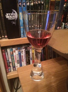 Blossom Hill - White Zinfandel - much needed after a hectic day! Cheers! :-)