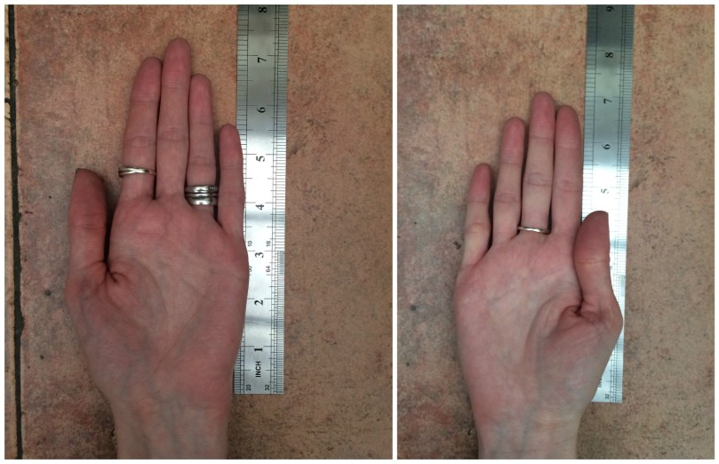 Hand Measuring - Collage: www.fotor.com