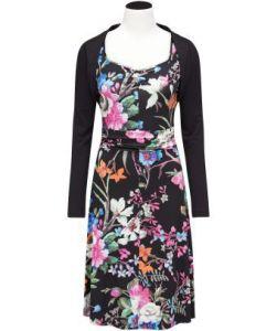 Tropical Dress with Shrug